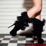 siyah püsküllü çizme modeli