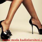siyah rugan çiçekli ayakkabı modeli