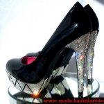 siyah rugan ayakkabı modeli