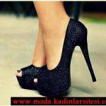siyah simli ayakkabı modeli