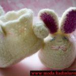 tavşan detaylı patik modeli