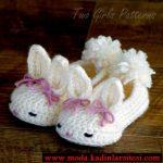 tavşan figürlü patik modeli