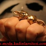 tavşan figürlü yüzük modeli