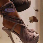 vizon rengi şifon ayakkabı modeli