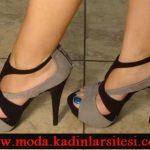 vizon siyah ayakkabı modeli
