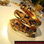 yılan figürlü şık bilezik modeli