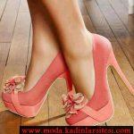 yavru ağzı çiçek detaylı ayakkabı modeli