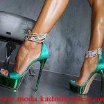 yeşil incili ayakkabı modeli