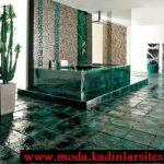 yeşil mermer etaylı banyo modeli