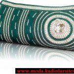 yeşil taşlı gece çantası modeli