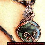 yeşil taşlı kolye ucu modeli