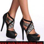 zebra desenli bantlı ayakkabı modeli