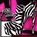 zebra desenli bot modeli