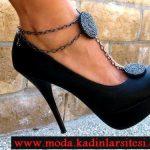 zincir detaylı ayakkabı modeli
