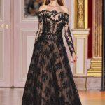 zuhair murad siyah dantel abiye modeli