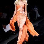 zuhair murad turuncu abiye modeli
