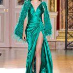 zuhair murad yeşil abiye modeli