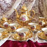 altın kaplama çay takımı modeli