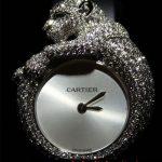 aslan figürlü pırlanta saat modeli