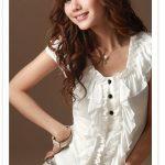 beyaz volanlı bluz modeli