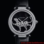 cartier leopar figürlü pırlanta saat modeli