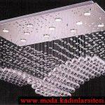 dikdörtgen kristal avize modeli