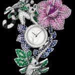 doğa ve hayvanlar temalı pırlanta saat modeli
