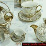 dore beyaz şık çay takımı modeli