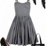 füme elbise kombin modeli