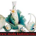 fransız porselen çay takımı modeli