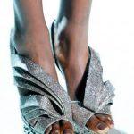 gümüş simli stiletto m modeli