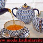 mavi desenli çay takımı modeli