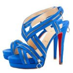 mavi fermuarlı stiletto modeli