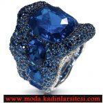 mavi taşlı yüzük modeli