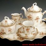 minik çiçekli çay takımı modeli