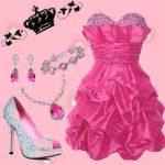 pembe balon gece elbise kombin modeli