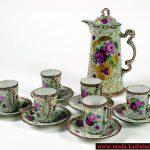 renkli desenli çay takımı modeli