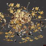 sarı çiçekli avize modeli