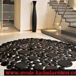 siyah deri halı modeli