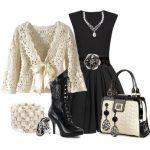 siyah elbise kombin modeli