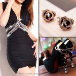 siyah mini elbise ve ayakkabı kombini