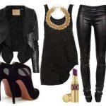 siyah tunik pantolon modeli