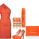 turuncu kombin modeli