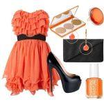 turuncu siyah kombinasyon modeli