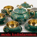 yeşil dore çay takımı modeli