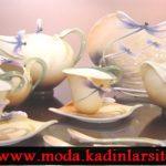 yusufçuk figürlü çay takımı modeli