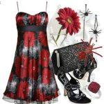 çiçekli elbise kombin modeli