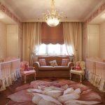 şık ikiz kız çocuk odası