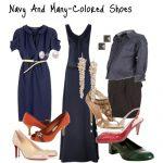 lacivert elbise kombin modeli