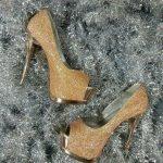 bej şık ayakkabı modeli